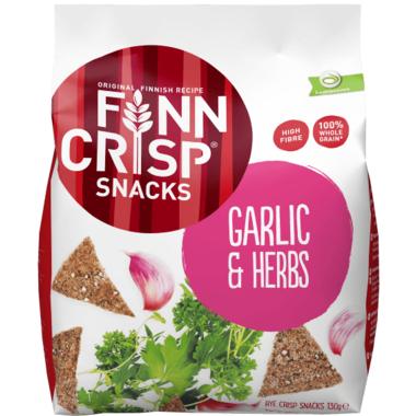 Finn Crisp Rye Snacks Garlic & Herb