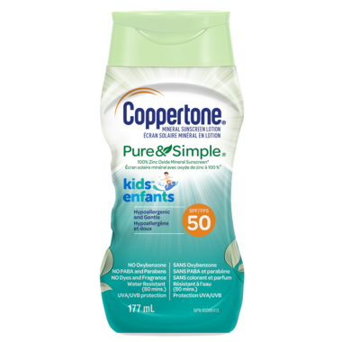 Coppertone Mineral Sunscreen Lotion Pure & Simple Kids SPF 50