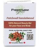 Penny Lane Organics 100% Natural Beauty Bar Patchouli Sandalwood