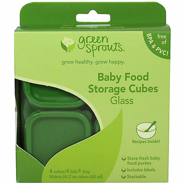 Green Sprouts Fresh Baby Food Glass Cubes Green