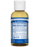 Dr. Bronner's Organic Pure Castile Liquid Soap Peppermint 2 Oz