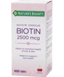 Nature's Bounty Quick Desolve Chewable Biotin