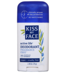 Kiss My Face Active Life Deodorant Stick Fragrance Free