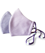 Happy 3-Layer Kid's Organic Cotton Face Mask Mauve & Chambray