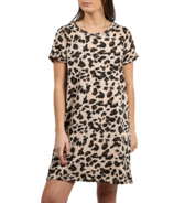 BRUNETTE The Label Classic Tee Dress Tan Leopard