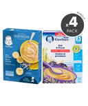 Gerber Baby Cereal 6 Months + Variety Bundle