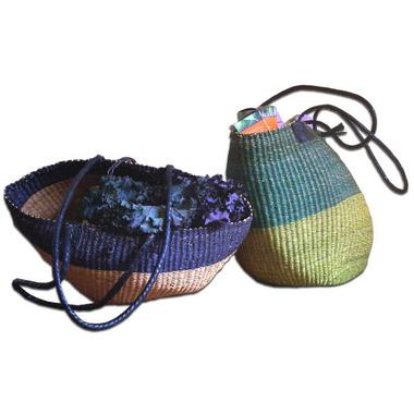 Alaffia Handwoven African Shoulder Basket