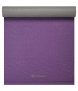 Gaiam Easy Roll Yoga Mat Grape & Grey