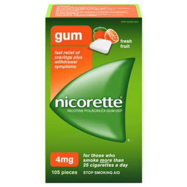 NICORETTE Gum Fresh Fruit 4mg