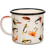 Hook Line and Sinker Flies Enamel Mug