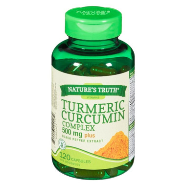 Nature\'s Truth Turmeric Curcumin Complex 500 mg Plus Black Pepper Extract