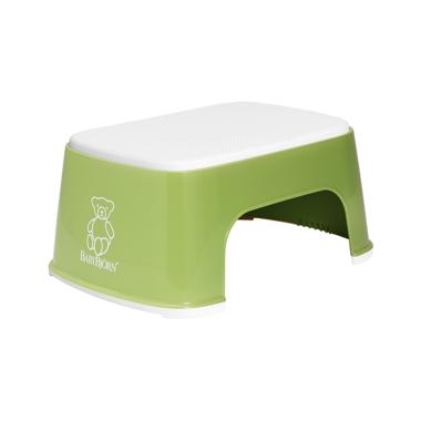 BabyBjorn Safe Step Stool Green & White