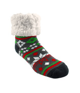 Pudus Classic Slipper Socks Christmas Grey