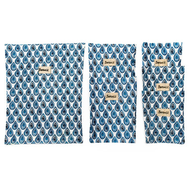BeeBAGZ Beeswax Bags Family Pack Blue