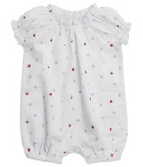 aden + anais Short Sleeve Gathered Romper Butterfly