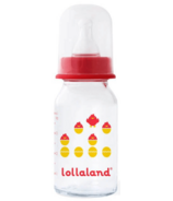 Lollaland Glass Baby Bottle Small Red