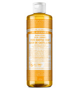 Savon liquide de castille pur et organique Dr. Bronner's Citrus Orange