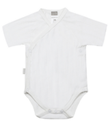 Kushies Side Wrap Short Sleeve Bodysuit White
