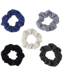 Kitsch Matte Scrunchies Black & Gray