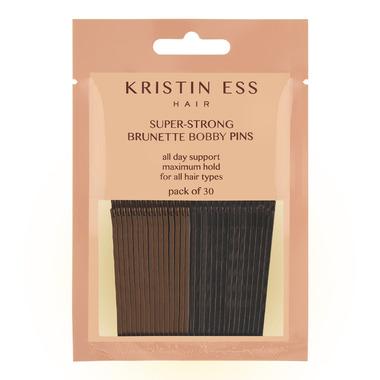 Kristin Ess Hair Super-Strong Bobby Pins Brunette