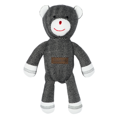 Juddlies Cottage Collection Organic Rattle Bear Bear Black