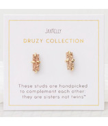 JaxKelly Druzy Bar Rose Gold Earrings