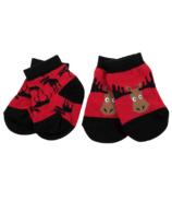 Hatley Moose On Red Baby Socks