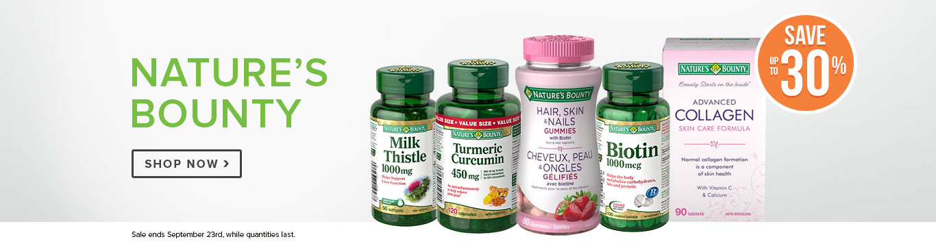 Save up to 30% on all Nature's Bounty