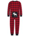 Hatley Moose on Plaid Kids' Union Suit