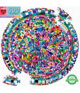 eeBoo Triangle Pattern Round Puzzle