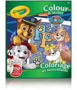 Crayola Colour & Sticker Book Paw Patrol