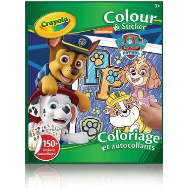 Crayola Colour & Sticker Book Paw Patrol