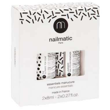 nailmatic Essential Set Top coat & Plant-based Lavender Nail Polish Remover