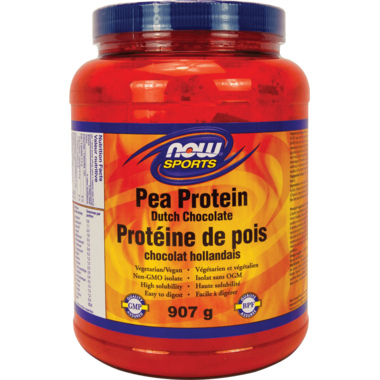 NOW Sports Pea Protein Dutch Chocolate