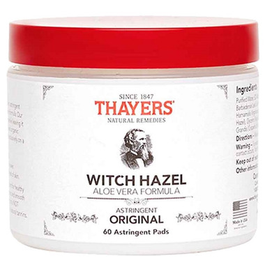 Thayers Original Witch Hazel with Aloe Vera Astringent Pads