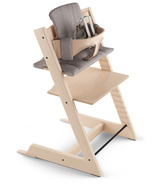 Stokke Tripp Trapp High Chair Complete Natural Icon Grey Cushion and Tray