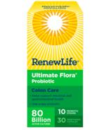 Renew Life Probiotique Ultimate Flora Colon Care 80 milliards de cultures actives