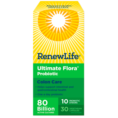 Renew Life Ultimate Flora Colon Care 80 Billion Active Cultures
