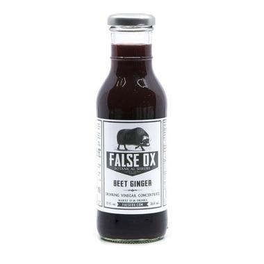False Ox Beet Ginger Shrub Drinking Vinegar