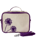 SoYoung Raw Linen Purple Dandelion Lunch Box