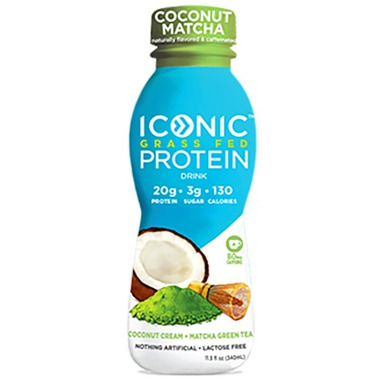 Iconic Grass Fed Protein Drink Coconut Matcha