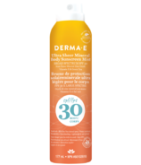 Derma E Ultra Sheer Mineral Body Sunscreen Mist SPF30