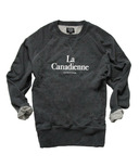 Province of Canada La Canadienne Womens French Terry Crewneck Charcoal