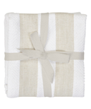 Harman Industrial Stripe Basketweave Tea Towels Tan and White