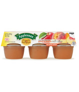 Applesnax Organic Apple and Peach Applesuace Cups