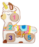 Little Tikes Wooden Critters Number Puzzle Llamacorn