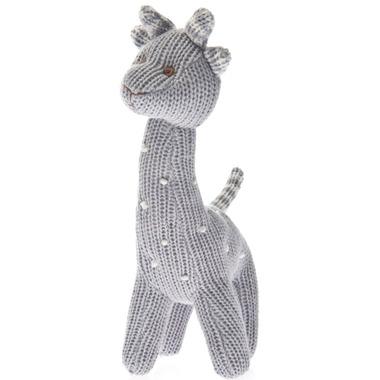 Beba Bean Knit Giraffe Rattle Grey Polka Dot