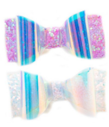Great Pretenders Glow Bow Hair Clips