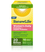 Renew Life Women's Daily Probiotic + Organic Prebiotics