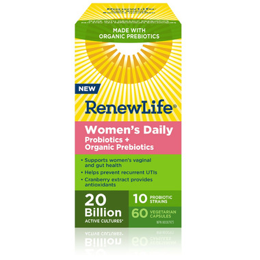 Renew Life Women\'s Daily Probiotic + Organic Prebiotics